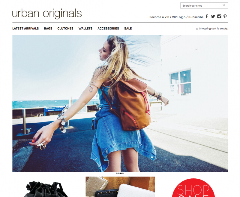 Urban Originals - Shopnavigation
